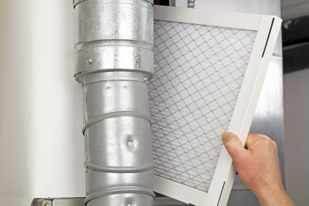replacing disposable air filter
